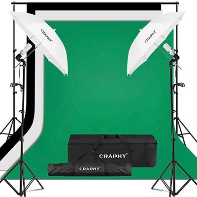 CRAPHY Lighting w/ Muslin Backdrop Kit