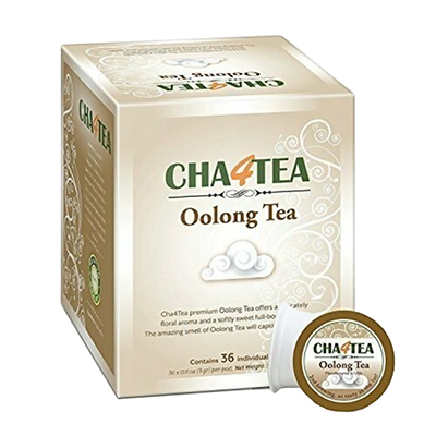 Cha4TEA Oolong Tea Pods for K-Cup Machines