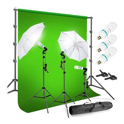 LimoStudio Chromakey Green Screen Kit