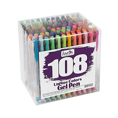 Lineon 108 Color Gel Pens